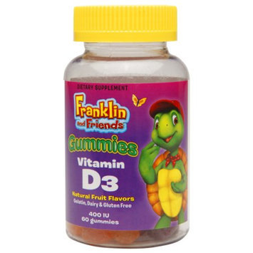 Treehouse Franklin & Friends Vitamin D3 400 IU Gummies, 60 ea