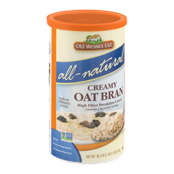 Old Wessex Ltd.All-Natural Creamy Oat Bran High Fiber Breakfast Cereal