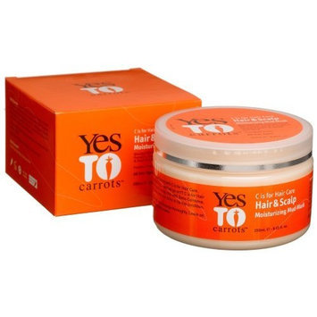 Yes To Carrots Hair & Scalp Moisturizing Mud Mask, 8.45-Ounce Tubs (Pack of 2)