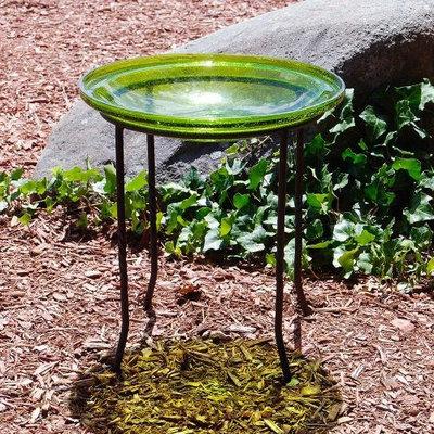 Achla Designs Achla CGB-14FG 14 in. Fern Green Crackle Glass Bowl