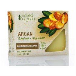 Organix South - Naked Organix Argan Cleansing Bar Fragrance Free - 4 oz.