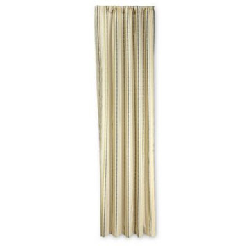 NoJo Zoobilee Stripe Curtain Panels (Brown)