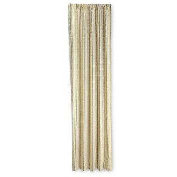 NoJo Zoobilee Stripe Curtain Panels (Brown)