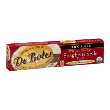 De Boles Organic Whole Wheat Spaghetti Style Pasta