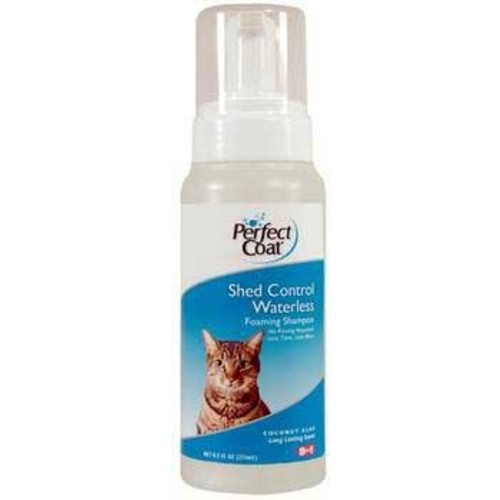 8in1 Perfect Coat Shed Control Foaming Waterless Cat Shampoo, 8.5-Ounce