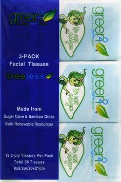 Green2 Facial Tissue - 100% Tree Free - 90 Ct. Cube - 30 units