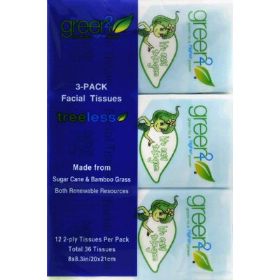 Green2 Facial Tissue - 100% Tree Free - 90 Ct. Cube - 30 units