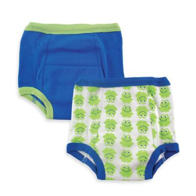 Baby Vision Luvable Friends 2 Pack Water Resistant Training Pants - Frog (3T)