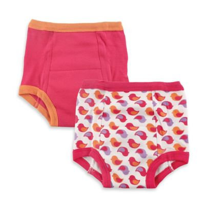 Baby Vision Luvable Friends 2 Pack Water Resistant Training Pants - Bird (3T)