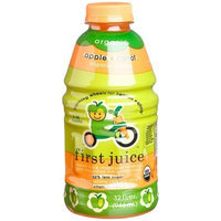 First Juice Organic Apple + Carrot, 32 Ounce Bottles (Pack of 6)