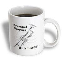 Recaro North 3dRose - Music - Trumpet Players Kick brASS! - 11 oz mug