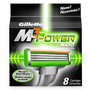 Gillette Mach3 M3 Power Refill Cartridges