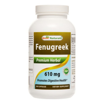 1 Fenugreek Seed 610 Mg 360 Capsules By Best Naturals - Supports Lactation And Post-Natal Health - Manufactured In A Us
