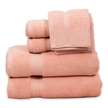 Pure Fiber Zero Twist 6 Piece Towel Set, Rose