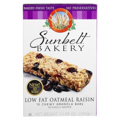 McKee Foods Sunbelt Bakery Low Fat Oatmeal Raisin Granola Bars 10 ct
