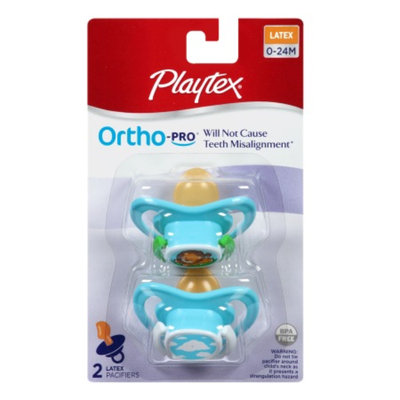 Playtex Ortho-Pro Latex Pacifier, 0-24 Months, 2 ea