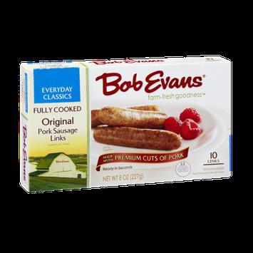 Bob Evans Fully Cooked Original Pork Sausage Links - 10 CT