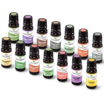 Plant Therapy Essential Oils Top 14 Essential Oil Set. Includes 100% Pure, Therapeutic Grade Oils of Bergamot, Clary Sage, Cinnamon, Eucalyptus, Grap