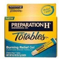 Preparation H Totables, Burning Relief Gel, 3 Mini-Prep Tubes Per Pack, 0.2 Oz Each