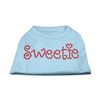 Mirage Pet Products 5278 XXLBBL Sweetie Rhinestone Shirts Baby Blue XXL 18