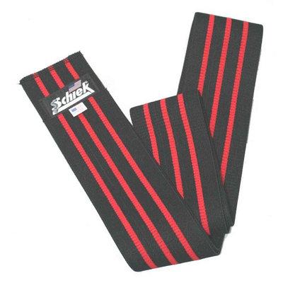 Schiek Sports 1178KW-BV 78 Inch Black Line Heavy Duty Knee Wraps With Velcro - Black