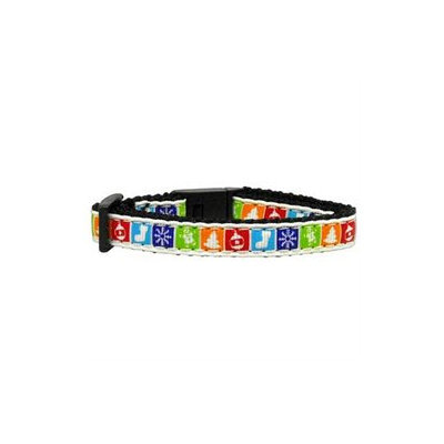 Mirage Pet Products 25 Classic Christmas Nylon And Ribbon Collars Cat Safety