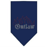 Mirage Pet Products 67-52 LGNB Outlaw Rhinestone Bandana Navy Blue large