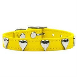 Mirage Pet Products 83-15 10Yw Heart Leather Yellow 10