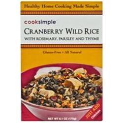 Cooksimple BG11670 Cooksimple Mapple Cranberry Wild Rice - 6x6.1