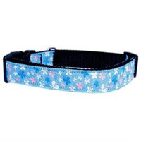 Mirage Pet Products 125-005 SMBL Butterfly Nylon Ribbon Collar Blue Sm