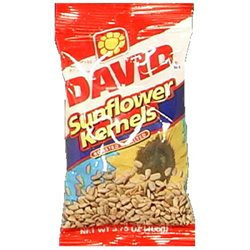 David Roasted and Salted Sunflower Kernels, 3.75 oz, - Pack of 12
