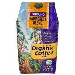 Organic Coffee Co. ORGANIC COFFEE Organic Ground Coffee - Rainforest - 12 oz