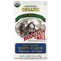 Hodgson Mill Organic Naturally White Flour, 32 oz, - Pack of 6