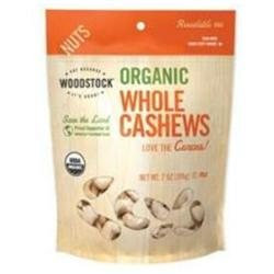 WOODSTOCK Organic Whole Cashews, 7 oz
