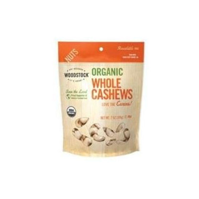 WOODSTOCK Organic Whole Cashews, 7 oz