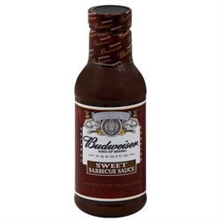 Budweiser Sauce Bbq Sweet 18 OZ, Pack Of 6