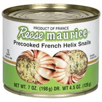 Reese Maitre Jacques Precooked Helix Snails Escargot 7 oz Pack of 6