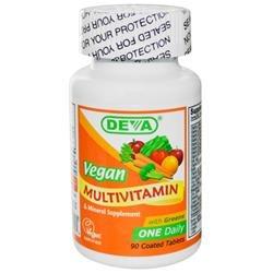 Deva Nutrition Vegan Multivitamin Mineral - 90 Tablets