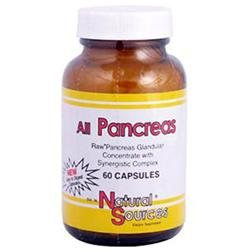 All Pancreas, 60 Capsules, Natural Sources
