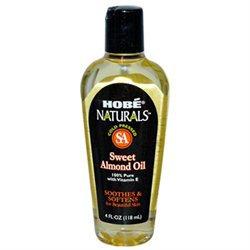 Hobe Laboratories 0754358 Hobe Naturals Sweet Almond Oil - 4 fl oz