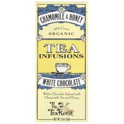 The Tea Room - Organic Chocolate Fusion Bar 30 Cacao White Chocolate Chamomile & Honey - 1.8 oz.