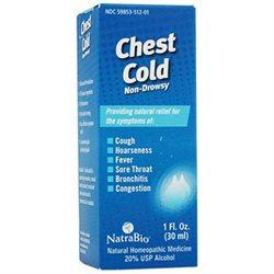 Natra-bio Homeopathics Chest Cold Relief 1 Fl Oz