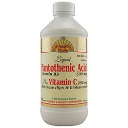 Dynamic Health Laboratories Liquid Pantothenic Acid Plus Vitamin C, 8 oz, Dynamic Health Labs