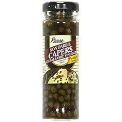 Reese Non Pareil Capers in Balsamic Vinegar - 12 Jars (3.5 oz ea)