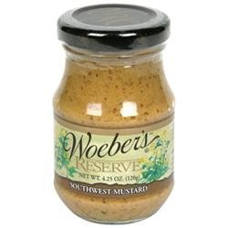 Woeber's Mustard Sw Reserve 4.25 OZ (Pack of 6)