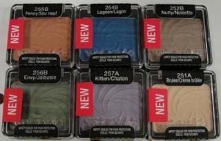 Wet N Wild Single Eyeshadows