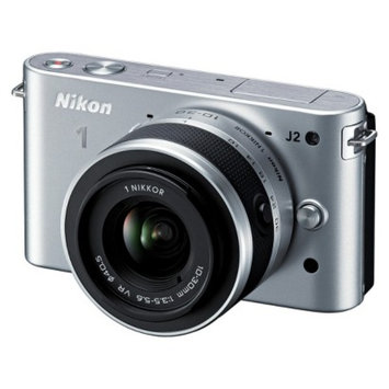 Nikon 1 J2 10.1MP Digital Camera with 10-30mm Lens Kit - Silver