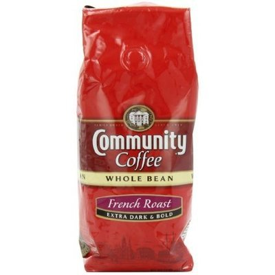 Community Coffee Whole Bean Coffee, French Roast, 12-Ounce Bags (Pack of 3)