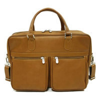 Piel Leather Checkpoint Friendly Briefcase (Saddle)