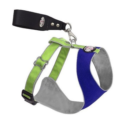 Doggles Over the Head Dog Harness, Blue/Green, XX Small